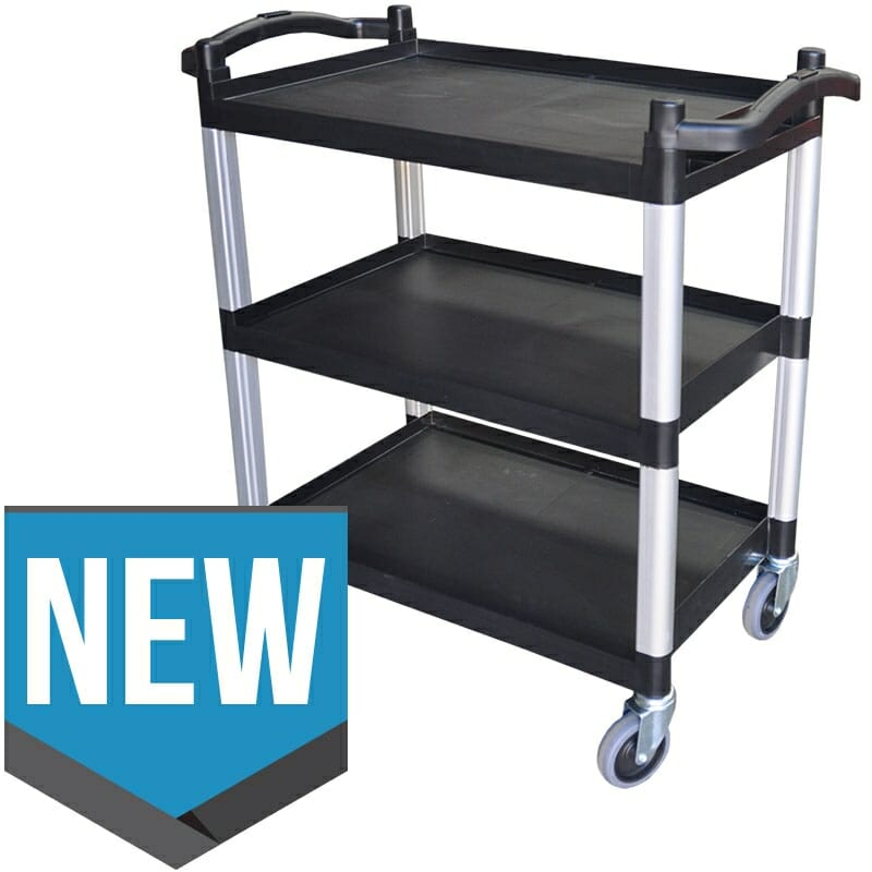 Polypropylene Catering Trolley, 3-Tier With Castors, 823 X 405 x 850mm high