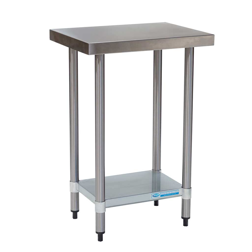 Commercial Grade Stainless Steel Flat Bench 600 x 450 x 900mm high