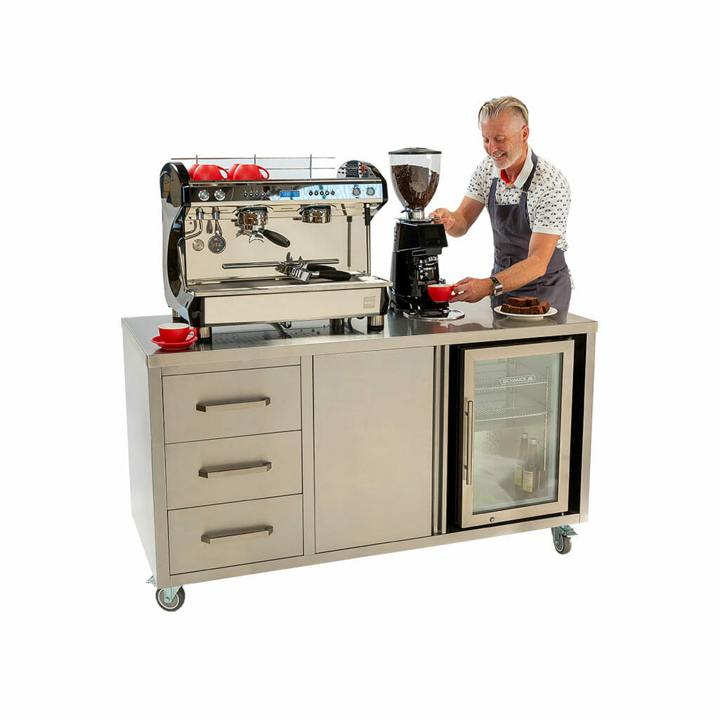 Stainless Steel Coffee Cart
