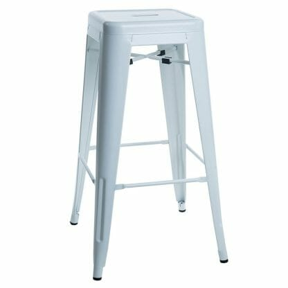 matt white stool