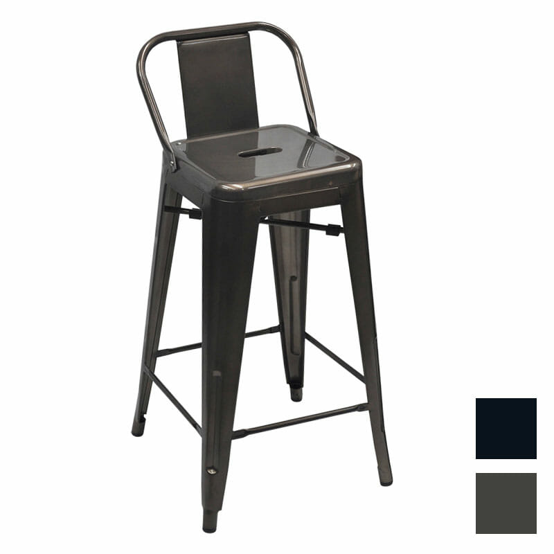 Replica Tolix Counter Stool With Low Back Rest
