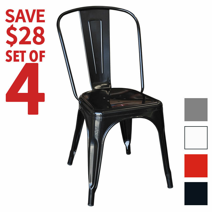 Set of 4 Replica Tolix Dining Chairs