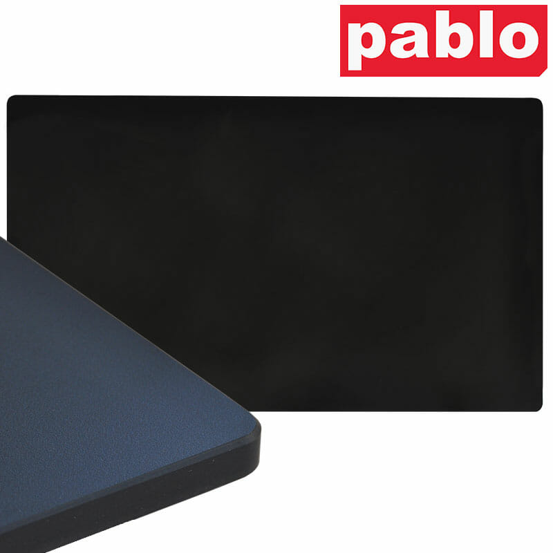 Diego Composite High Pressed Laminate Table Tops – Rectangle, Black