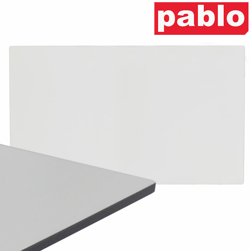 Diego Composite High Pressed Laminate Table Tops – Rectangle, White