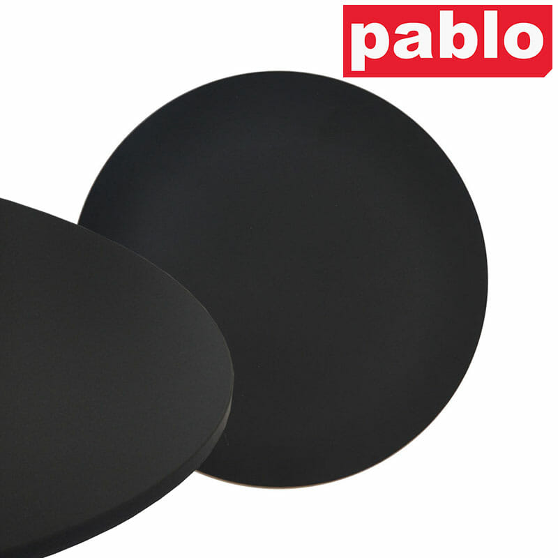 Diego Composite High Pressed Laminate Table Tops – Round, Black