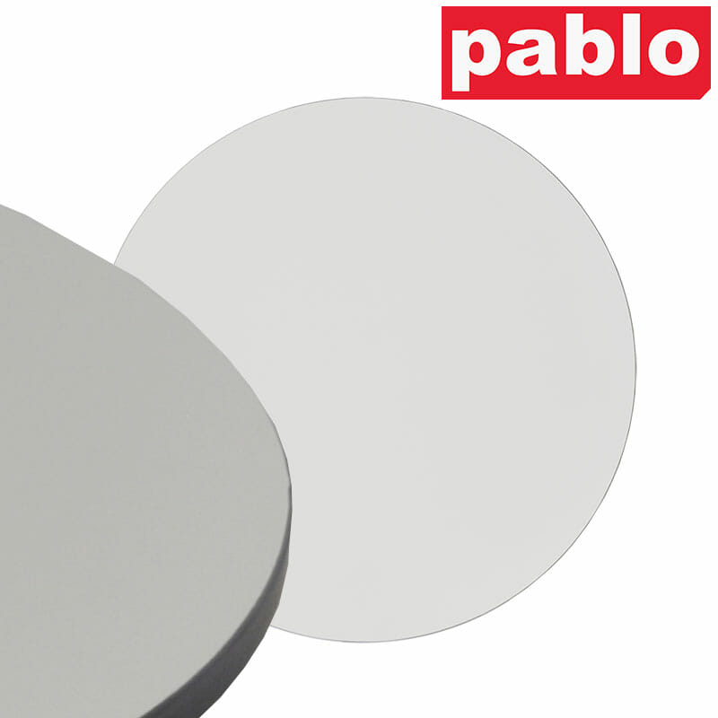 Diego Composite High Pressed Laminate Table Tops – Round, White