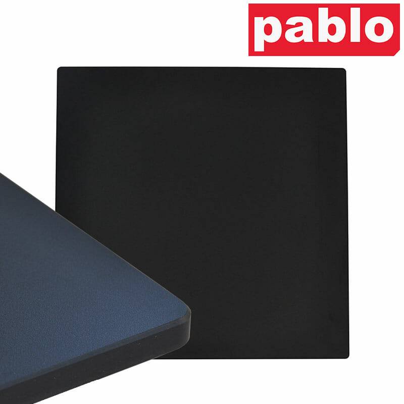 Diego Composite High Pressed Laminate Table Tops – Square, Black