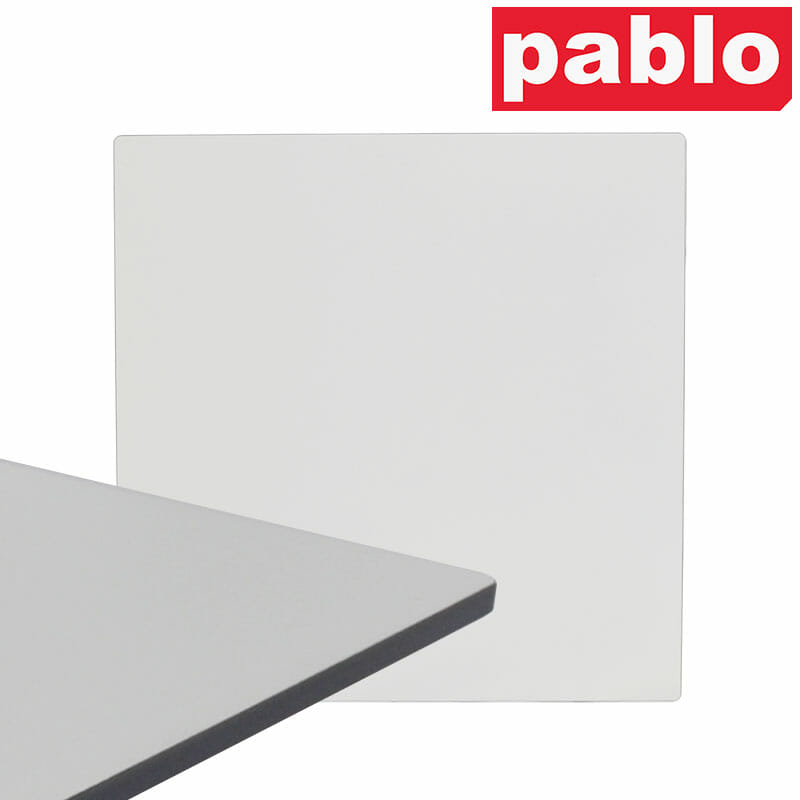 Diego Composite High Pressed Laminate Table Tops – Square, White
