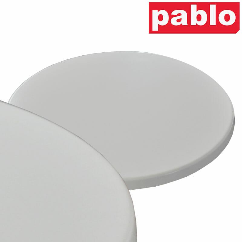 Ricardo High Pressed Resin Table Tops – Round, White