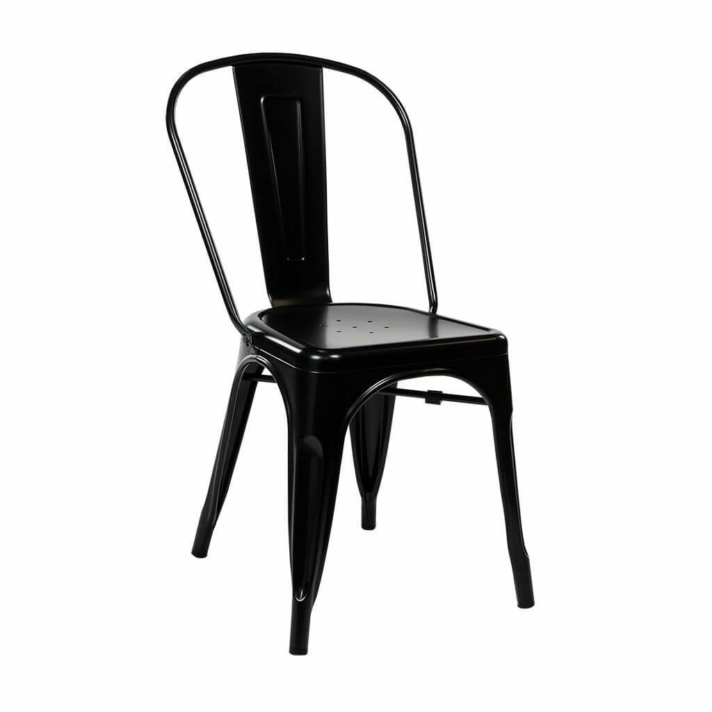 Replica Tolix Dining Chair – Matt Black