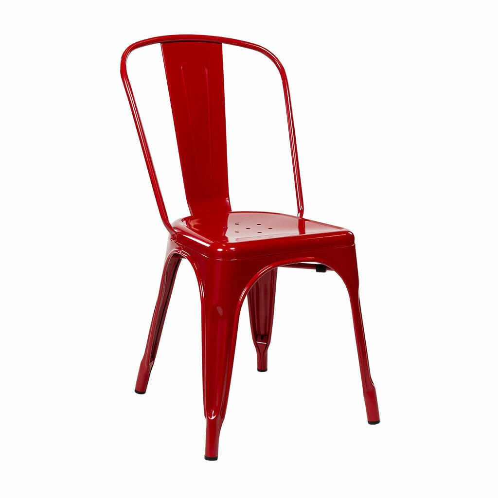 Replica Tolix Dining Chair – Red